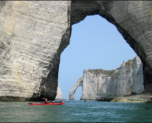 Kayak in Normandy